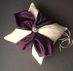 Knottie Ring Bearer Pillow with Rhinestone by RomancingJuliet, $29.50