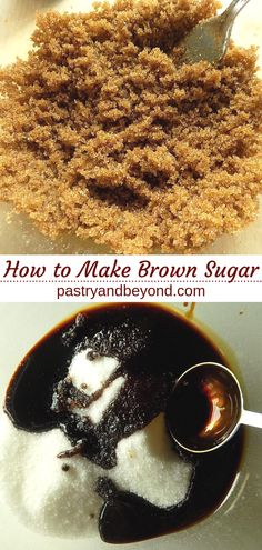 How to Make Brown Sugar at Home-You can easily make brown sugar at home with only 2 ingredients! How to Make Brown Sugar at Home-You can easily make brown sugar at home with only 2 ingredients! Substitute For Brown Sugar, Make Brown Sugar, Brown Sugar Syrup, How To Make Brown, Cookies Without Brown Sugar, Sugar Free Cookies, Baking Secrets, Baking Tips, Bread Baking