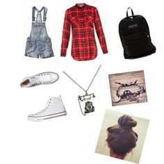 First day of school outfit #1? by loveolaf123 on Polyvore featuring polyvore fashion style Vince Abercrombie & Fitch Converse JanSport