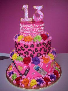 Neon Birthday Cake this might just be Madisons next birthday cake