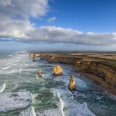 The #12Apostles through the eyes of a @susiereynolds66's drone - what a perspective! We never tire of seeing photos of these incredible coastal landmarks along @visitgreatoceanroad in #Victoria - they certainly are extremely photogenic. Whether it's from the air the cliff top viewing areas or down on the beach there always seems to be a new angle from which to capture these epic rock formations so it's no surprise they're one of Australia's most photographed natural attractions. by australia…
