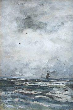 Schepen op zee Hendrik Willem Mesdag