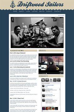 Band Website Love: The Driftwood Sailors