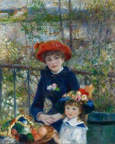 Художник Огюст Ренуар  «На террасе» (Две сестры).1881 г. Ренуар отличался постоянством к своим излюбленным местечкам и пейзажам. Одним из таких мест был семейный ресторан Дом Фурнеза, в котором любил бывать живописец.
