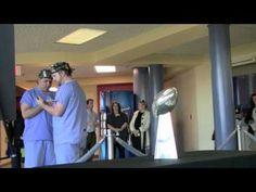 Super Bowl Trophy, Miss Mississippi Visit Batson Hospital
