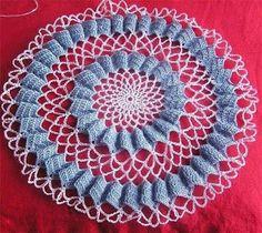 Crocheart: passo a passo toalha lago dos cisne de crochê