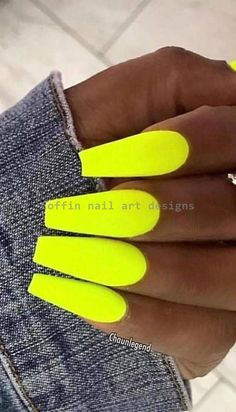 44 Best Coffin Nail & Gel Nail Designs For Summer 2019 – Page 15 of 43 - Summer Nail Colors Ideen Neon Acrylic Nails, Acrylic Nail Designs, Nail Art Designs, Nails Design, Gel Nagel Design, Summer Gel Nails, Glow Nails, 3d Nails, Stiletto Nails