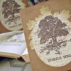 Rustic Woodland Silhouette Thank You Cards by SunshineandRavioli, $14.00
