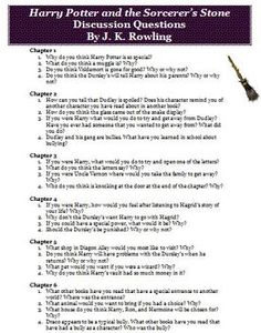 Attached are over 60 reading discussion questions that you can use with the novel Harry Potter and the Sorcerers Stone by J.K. Rowling. ($)