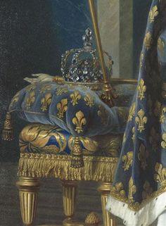 Detail from Louis XV by Louis-Michel Van Loo, 1763
