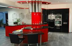 this kitchen is so cool and modern