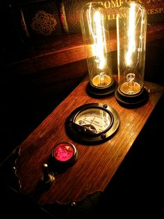 Steampunk Lamp  One Of A Kind By Mechanique by MizzMechanique, $375.00
