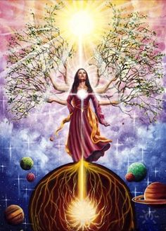 The balance point between manifestation and enlightenment.