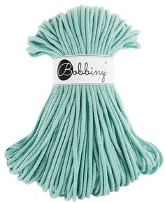 Mint cotton cord, cotton rope, macrame cord - 108 yards (100 meters) by Bobbiny on Etsy