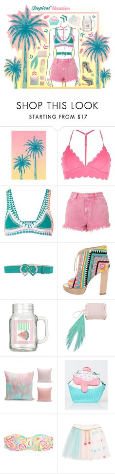 """""""Pink mint!"""" by beanpod ❤ liked on Polyvore featuring Tracie Andrews, River Island, kiini, Miss Selfridge, Dsquared2, Jerome C. Rousseau, The Volon, Billieblush and Marc Jacobs"""