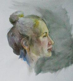 aquarel, akwarela, watercolor, portrait