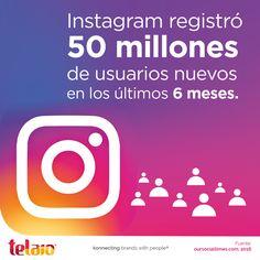 #Instagram sigue ganando popularidad alrededor del mundo y registra casi 10 millones de usuarios nuevos al mes. ¿Los vas a desaprovechar?