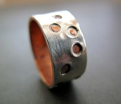 silver and copper ring