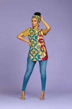 African Print Julie Top