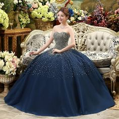 Puffy sweetheart neckline quinceanera dresses lace up long Quinceanera Dresses, Prom Dresses, Formal Dresses, Wedding Dresses, Blue Dresses, Vestidos Color Azul Rey, Marie, Ball Gowns, Lace Dress