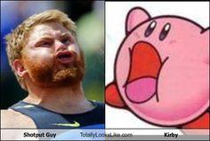 Shotput Guy Totally Looks Like Kirby