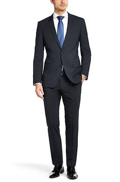 Hugo Boss - Slim-fit suit 'Huge1/Genius1' in new-wool blend by BOSS - 5000 kr. http://www.hugoboss.com/uk/slim-fit-suit-%27huge1-genius1%27-in-new-wool-blend/hbeu50242560.html?dwvar_hbeu50242560_color=410_Dark%20Blue&cgid=21100#prefn1=brand&prefn2=refinementColor&prefv2=blue&sz=48&prefv1=HUGO%7CBOSS&start=1