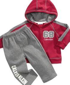 Calvin Klein Kids Set, Little Boys 2-Piece Jacket and Pant Set