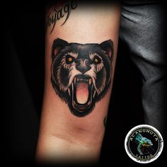 Bear is a classic old school tattoo.It's suggested for everyone by Acanomuta Tattoo Studio.