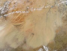 Dust storm in the Sahara