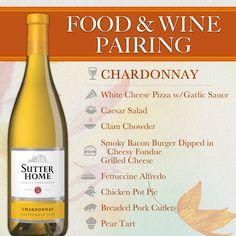 Sutter Home Wine & Food Pairing Series: Chardonnay & Comfort Food | #WineWednesday #WW