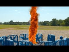 Fire Tornado in Slow Motion - The Slow Mo Guys - YouTube
