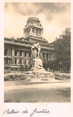 Palais de Justice, Brussels 1944 Archi Design, Vintage Architecture, Vintage Pictures, Vintage Postcards, Arts, Westerns, Greece, Law, The Past