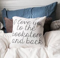 I Love You To The Bookstore And Back Throw Pillow by bookwormboutique I Love Books, Good Books, Books To Read, Woodworking Projects Plans, Teds Woodworking, Back Pillow, Book Nerd, Book Quotes, Book Worms