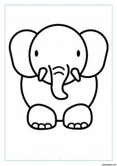 Print out animal elephant coloring pages - Printable Coloring Pages For Kids