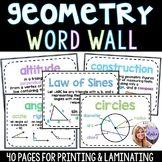 Geometry - Middle School & High School - 40 Page Word Wall Teacher Pay Teachers, Teacher Resources, Geometry Words, Law Of Cosines, Geometric Mean, Middle School, High School, Math Word Walls, Teaching Math