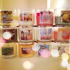 Bath and Body Works candles!!❤