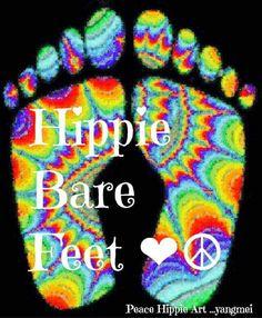 Hippie bare feet