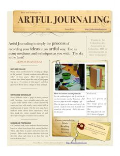 Artful Journaling Lesson Plans - Education Closet