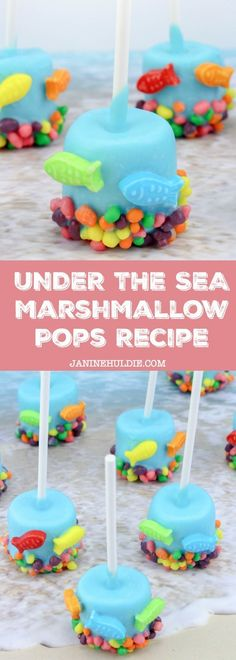 Under the Sea Marshmallow Pops Little Mermaid Inspired Recipe Tutorial A kid and family-friendly treat that is based on Disney's Little Mermaid movie with Under the Sea Marshmallow Pops. Chocolate Dipped Marshmallows, Cute Marshmallows, How To Make Marshmallows, Dessert Party, Candy Melts, Kool Aid, Spooky Halloween, Cobbler, Disney Frozen