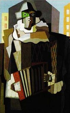 Arlequin ― Emilio Pettoruti Cubist Artists, New Artists, 20th Century Painters, Kazimir Malevich, Francis Picabia, Art Deco, Georges Braque, Diego Rivera, Emilio