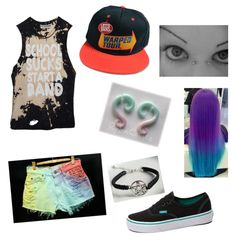 Warped Tour On Polyvore Featuring Polyvore Fashion Style Levis Vans Scene Outfits Band Outfits