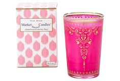 Moroccan Pink Henna Candle, Rose, Filled Candles