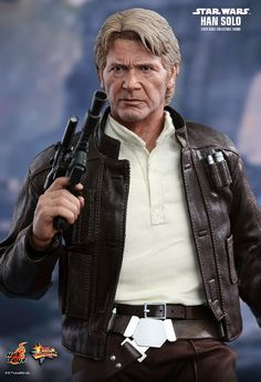 Hot Toys : Star Wars: The Force Awakens - Han Solo scale Collectible Figure Star Wars Figurines, Star Wars Toys, Star Wars Art, Star Trek, Han Solo And Chewbacca, Star Wars Han Solo, Han Solo Cosplay, Jouet Star Wars, The Empire Strikes Back