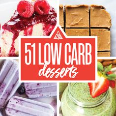 Most low carb eating plans leave out the yummy part. But you don't have to with this Ultimate Low Carb Dessert List.