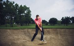 The science behind the bunker shot, the skid spinner and the flop shot. Golf 1, Play Golf, Golf Instruction, Golf Tips, Baseball Field, Golf Courses, Coaching, Bunker