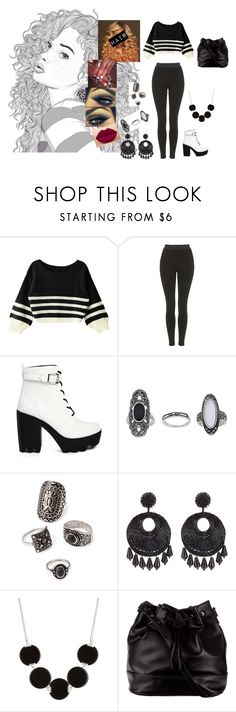 """""""Apologize #OneRepublic"""" by diane-ds ❤ liked on Polyvore featuring Topshop, ASOS, Urban Decay, Forever 21, Kenneth Jay Lane, Kenneth Cole and ZALORA"""