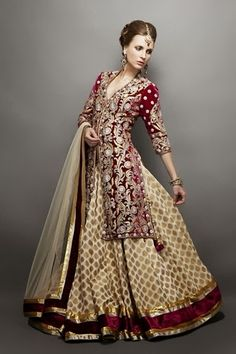 Newest Bridal Shararas Dresses Collection 2015 For New Year |