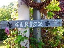 """Garten Holz Schild """"GARTen"""" handgefertigt Vintage"""