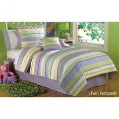Purple and Lime Green Comforter