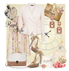 """""""Princess Kate"""" by nancyreo ❤ liked on Polyvore featuring Jimmy Choo, Bungalow Flooring, Carven, Modalu, Lenox, Shabby Chic, Alexander McQueen, JudeFrances, Vera Wang and Blu Bijoux"""